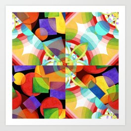 Prismatic Rainbow Art Print