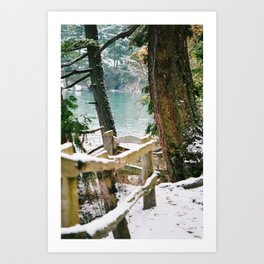 Winter by the Bay Art Print