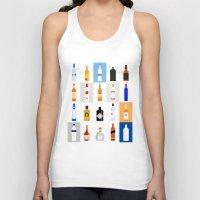 bar Tank Tops featuring Open Bar by Liz Slome