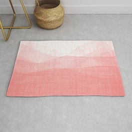 In The Flow - Geometric Minimalist Living Coral Rug