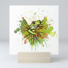 Red-eyed tree frog Mini Art Print