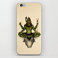 shiva iPhone & iPod Skins featuring Shiva by Slavena Peneva