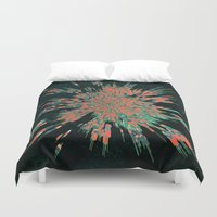 edm Duvet Covers featuring Tread Lightly by Obvious Warrior