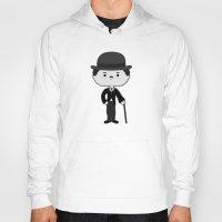 chaplin Hoodies featuring Charlie Chaplin by Sombras Blancas Art & Design