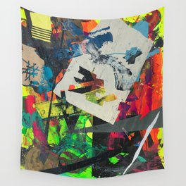 oblique glance Wall Tapestry