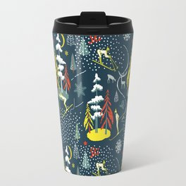 Retro Skiing  Travel Mug