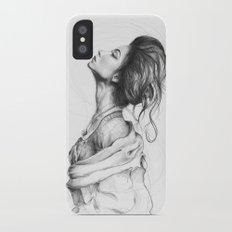 Pretty Lady Illustration Woman Portrait Beauty Slim Case iPhone X