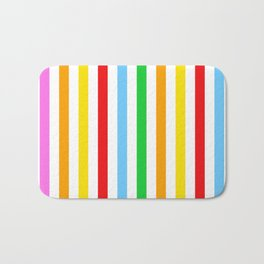 Stripes (Parallel Lines) - Red Blue Green Pink Bath Mat