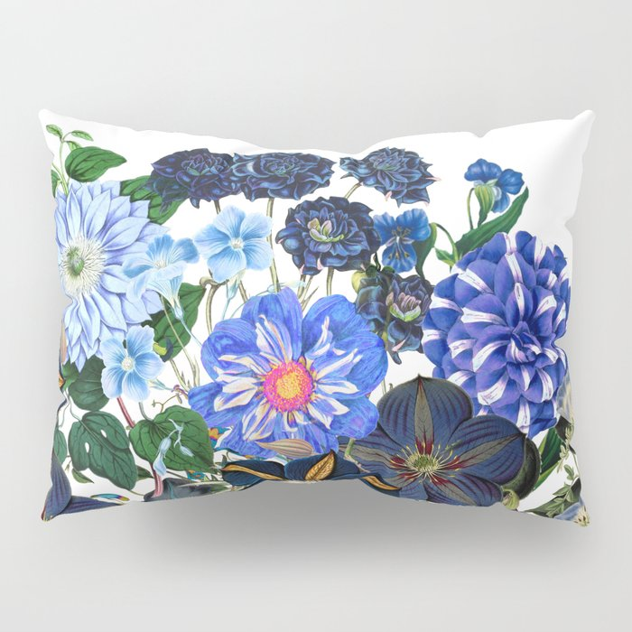 Vintage & Shabby Chic - Blue Flower Summer Meadow Pillow Sham