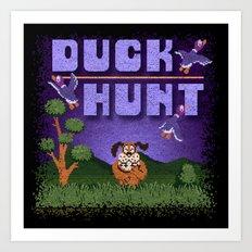 Hunt Duck Art Print
