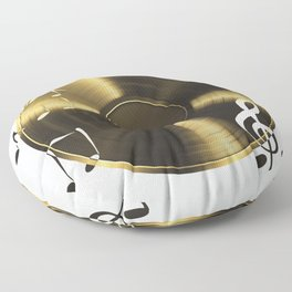 Gold LP Vinyl Record Floor Pillow