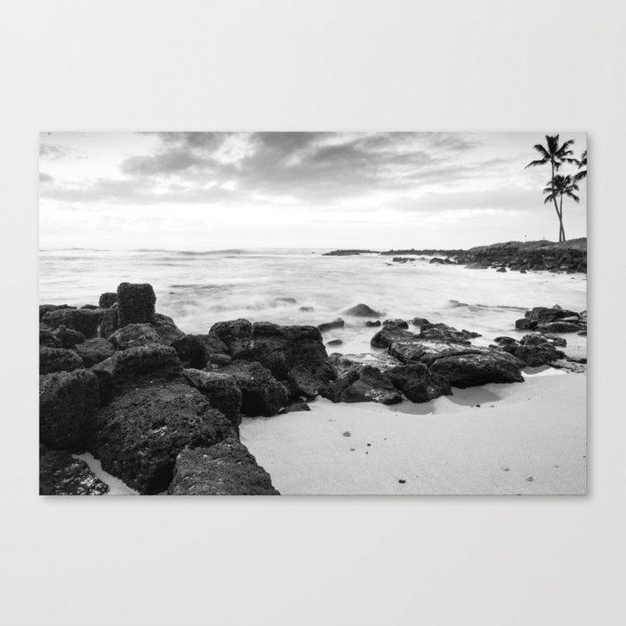 Dramatic coastline at Poipu beach in Kauai, Hawaii Canvas Print