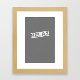 Grey Relax Framed Art Print