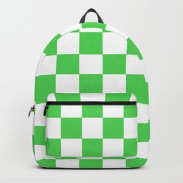 Checkered (Green & White Pattern) Backpack