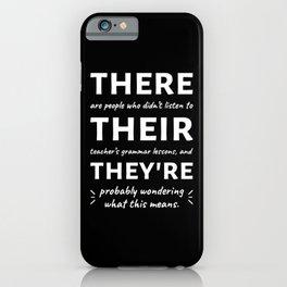 Love For Grammar II iPhone Case