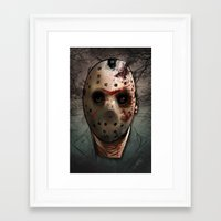 friday Framed Art Prints featuring Friday  by Lady Macabre Art