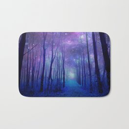 Fantasy Path Purple Blue Badematte