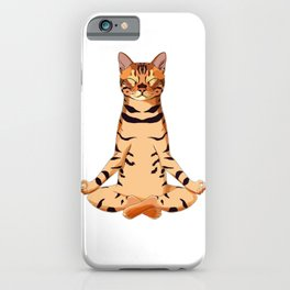 Yoga Bengal Cat  iPhone Case