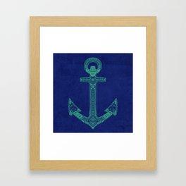 Anchor; ornate anchor Framed Art Print