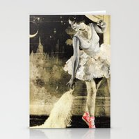 chuck Stationery Cards featuring Ballerina Chuck by Nicky Mula