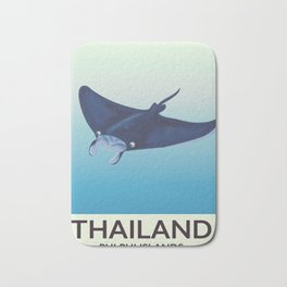 Thailand Phi Phi Islands Mantaray Bath Mat