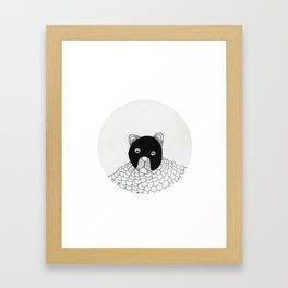 blur cat Framed Art Print