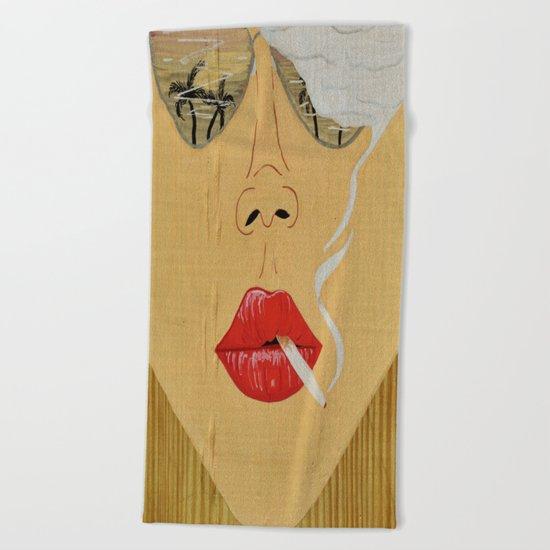 California Dreamin', Smoking Lady Series Beach Towel