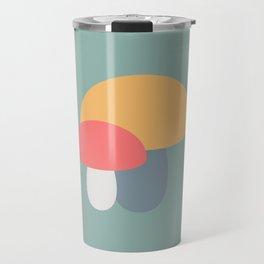 Bright Mushroom Caps Travel Mug