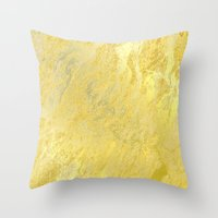 gold foil Throw Pillows featuring Gold Foil by Sweet Karalina
