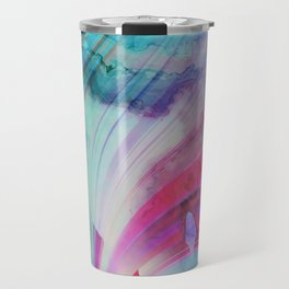 pastel geometrical asbtract Travel Mug