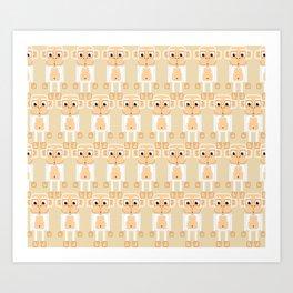 Super cute animals - Cheeky White Monkey Art Print