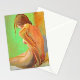 Young Beautiful Nude Woman At Dawn Stationery Cards