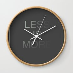Less is More III Wall Clock