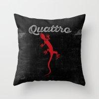 audi Throw Pillows featuring Quattro by Pisthead