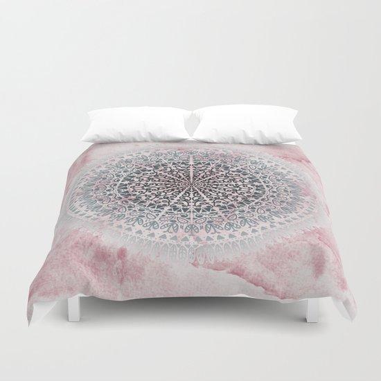 ICELAND MANDALA IN PINK Duvet Cover