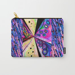 Neon Mosaic Carry-All Pouch