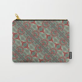 Autumn Green & Red Carry-All Pouch