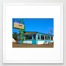 Abandoned Taco Time Framed Art Print