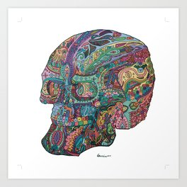 Funkadelic Skull Rebirth Art Print