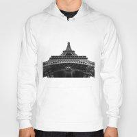 eiffel tower Hoodies featuring Eiffel Tower by Evan Morris Cohen