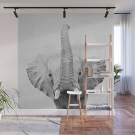 Elephant 2 - Black & White Wall Mural