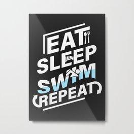 Funny Swimming Swimmer Swi Metal Print