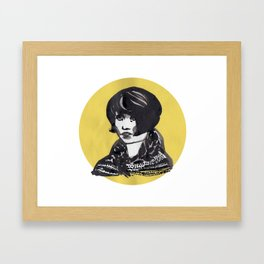 Sad girl Framed Art Print