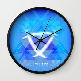 Neon Ley Lines Wall Clock