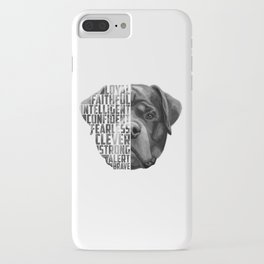 Rottweiler Quote Text iPhone Case