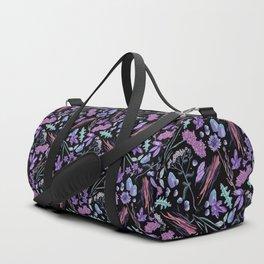 Purple flowers and jewels. Duffle Bag