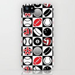 Sport Ball Checkerboard iPhone Case