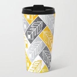Bright Geometric Print Travel Mug