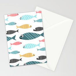 happy fish Stationery Cards