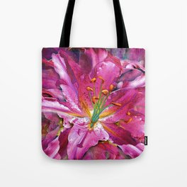 Star Gazing Star Lily Tote Bag